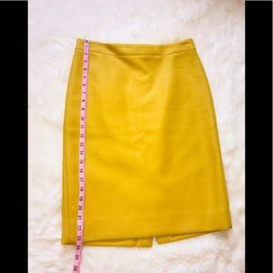 J Crew no. 2 Pencil skirt Mustard size 6